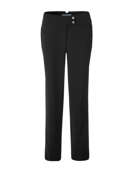 Curvy Straight Leg Pant, Black, hi-res