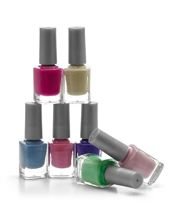 Floral Nail Polish Set, Pink/Purple/Tan/Blue/Hot Pink/Green/Rose, hi-res