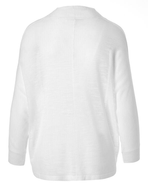 White Cocoon Shrug Cardigan, White, hi-res