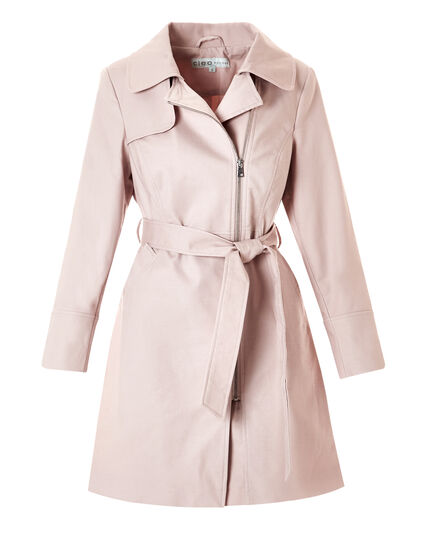 Soft Pink A-Line Trench, Soft Pink, hi-res