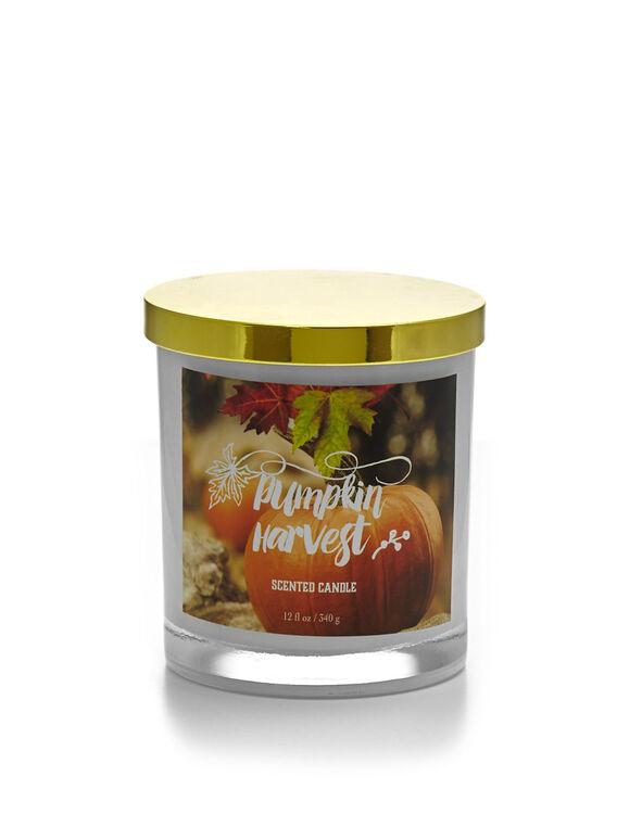Pumpkin Harvest Candle, White, hi-res