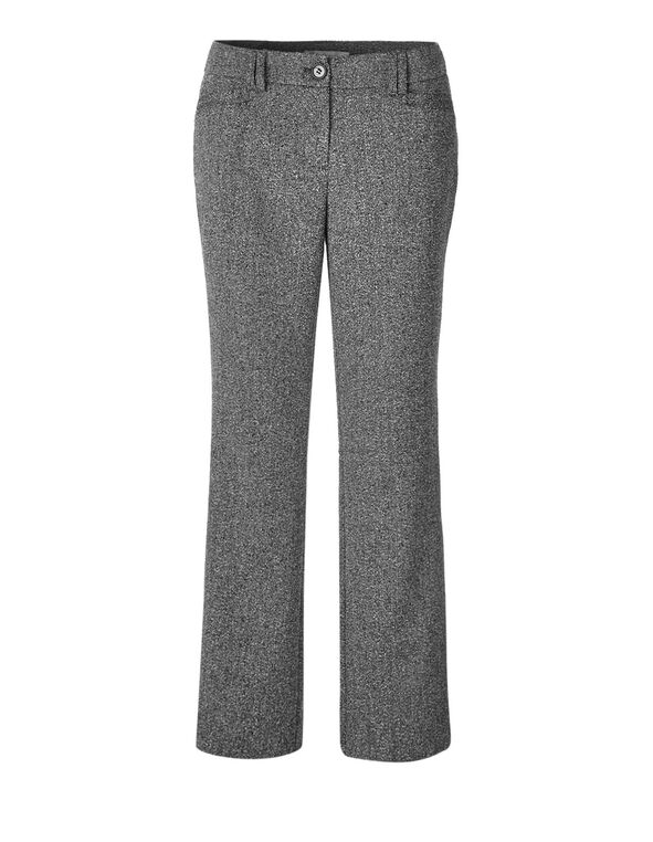 Grey Speckle Wide Leg Trouser, Grey, hi-res