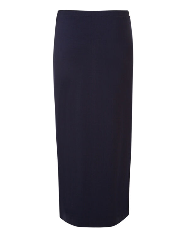 Navy Maxi Pullon Skirt, Navy, hi-res