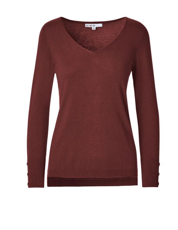 Chili V-Neck Sweater, Chili, hi-res