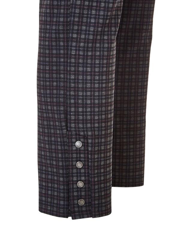 Purple Checkered Snap Legging, Black/Purple/Grey, hi-res