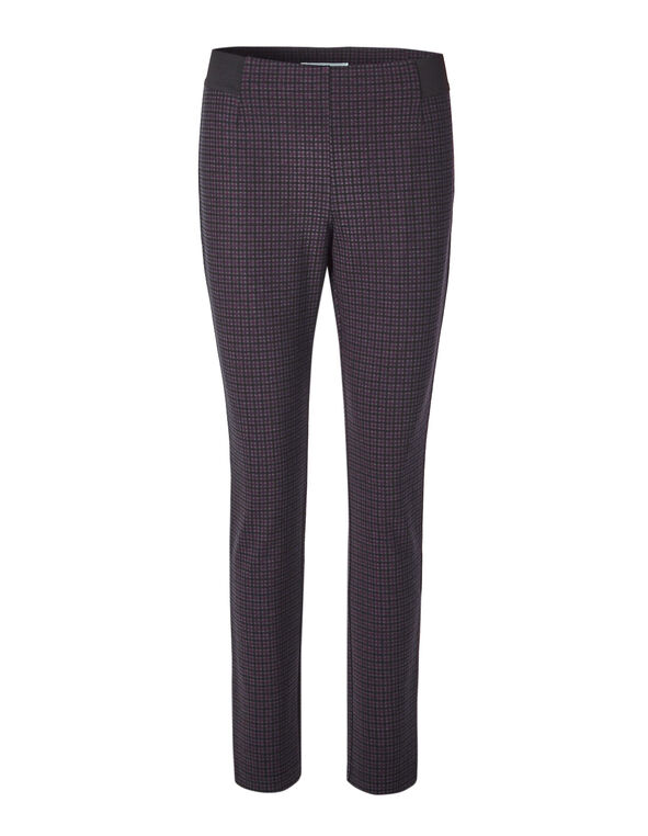 Plum Patterned Legging, Black/Plum, hi-res