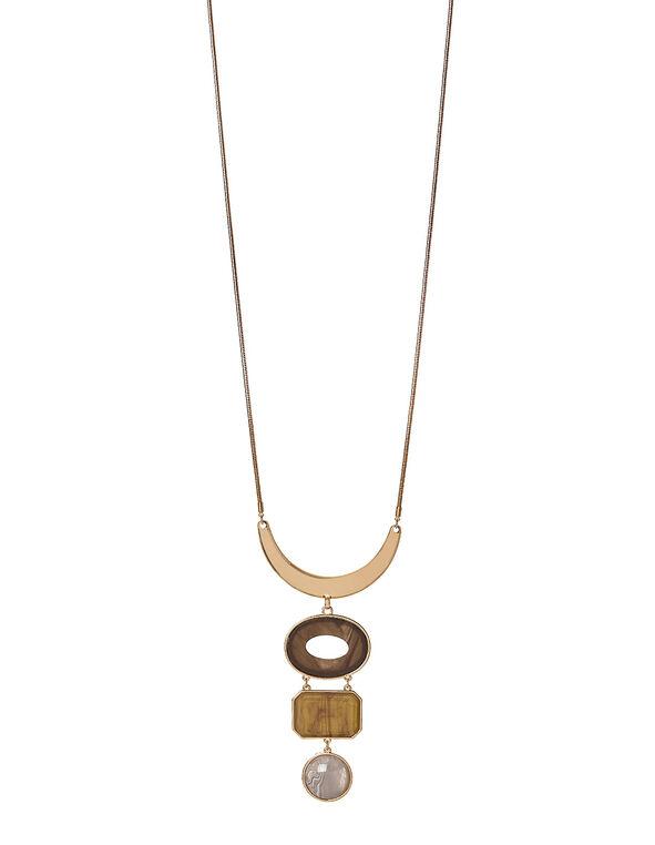 Tort Adjustable Length Necklace, Brown, hi-res