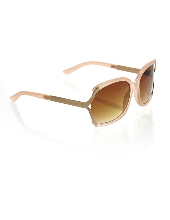 Pink Oval Frame Sunglasses, Pink, hi-res