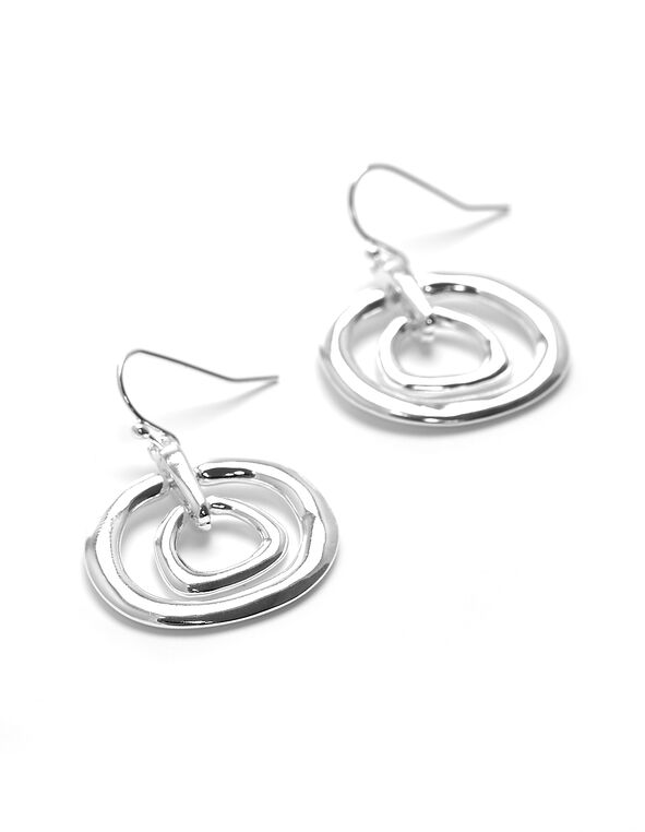 Silver Circle Earring, Silver, hi-res