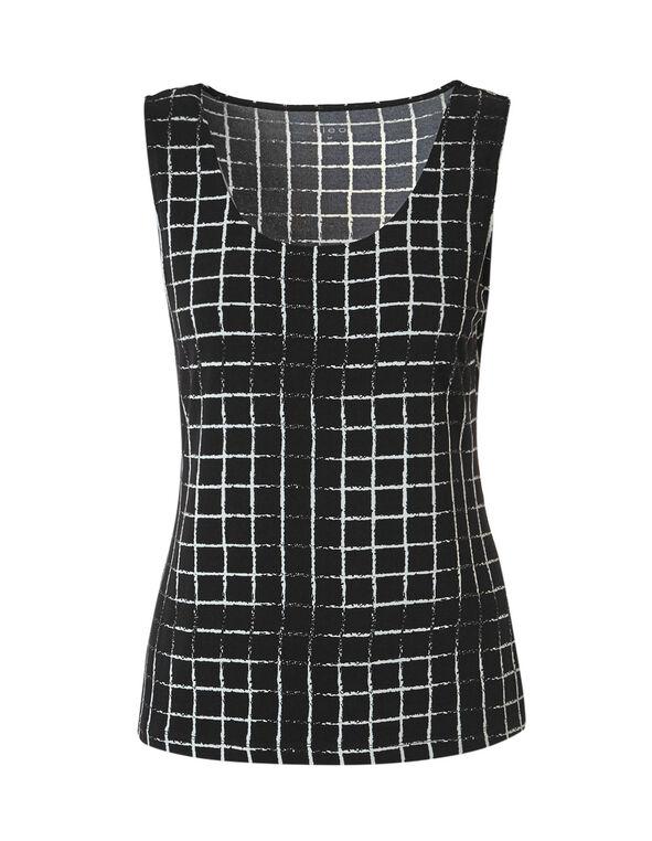 Black Print Essential Layering Top, Black/Ivory Print, hi-res