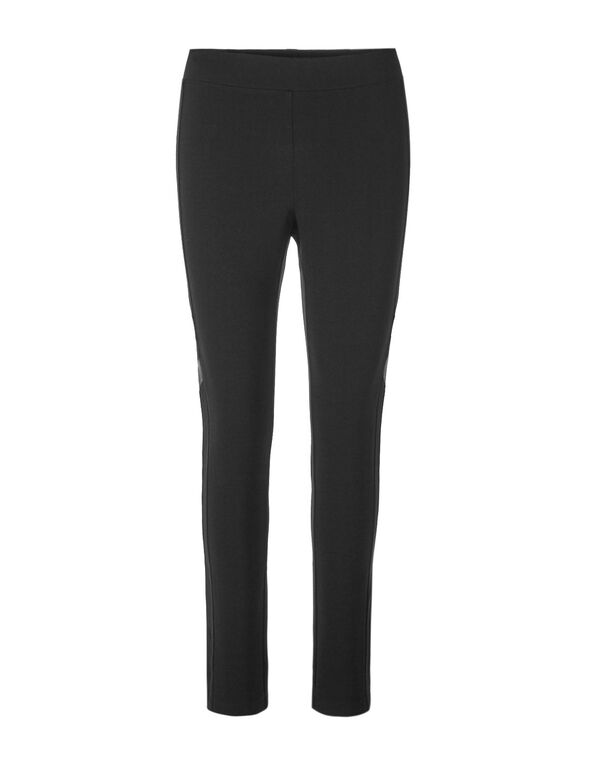 Black Faux Suede Legging, Black, hi-res