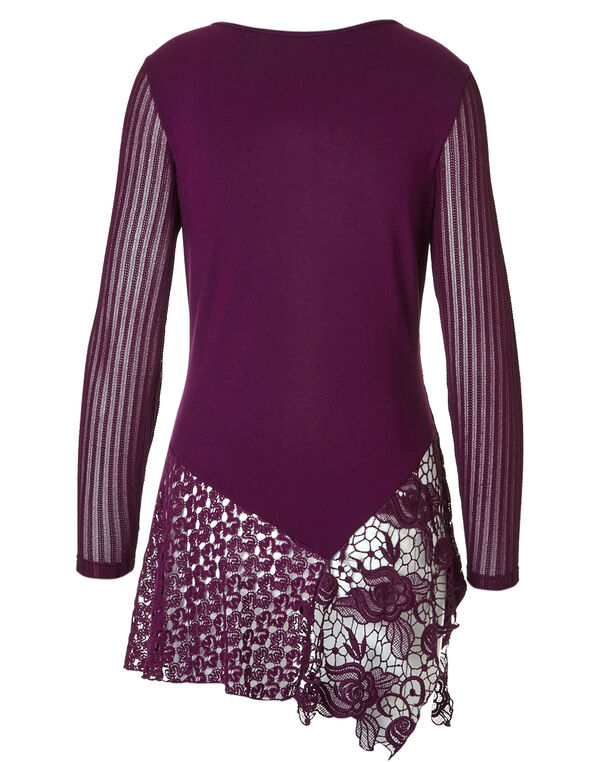 Raspberry Lace Tunic, Raspberry, hi-res
