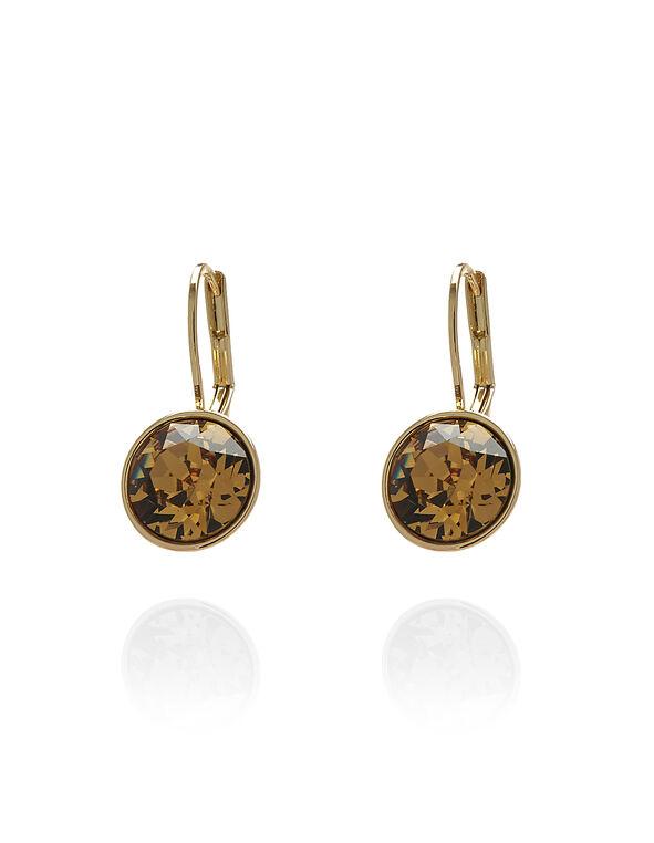 Topaz Swarovski Earring, Topaz, hi-res