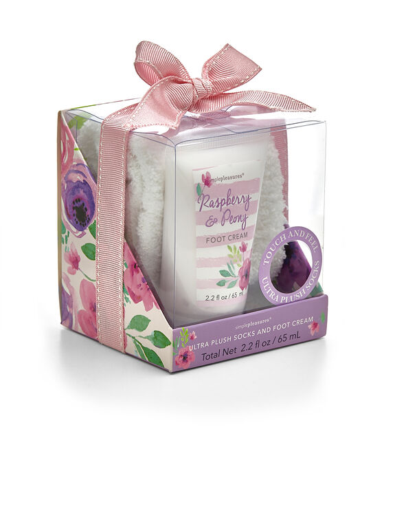 Raspberry and Peony Foot Care Set, Purple, hi-res