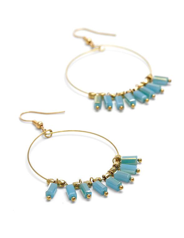 Turquoise Hoop Earring, Turquoise, hi-res