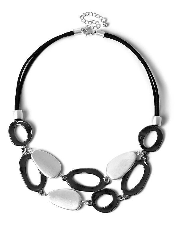 Short Metal Statement Necklace, Metal, hi-res