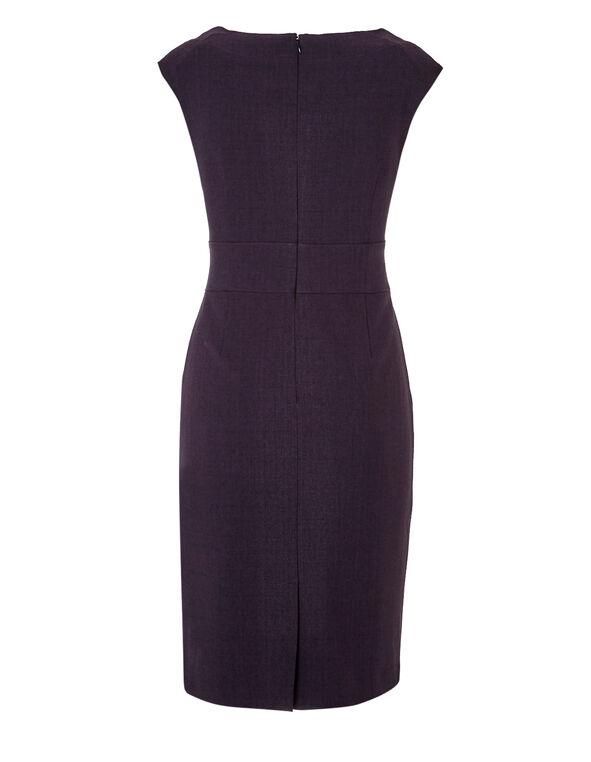 Plum Suiting Shift Dress, Plum, hi-res