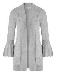 Grey Bell Sleeve Mid Cardigan