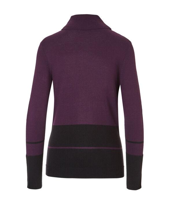 Plum Turtleneck Sweater, Dark Plum/Print, hi-res