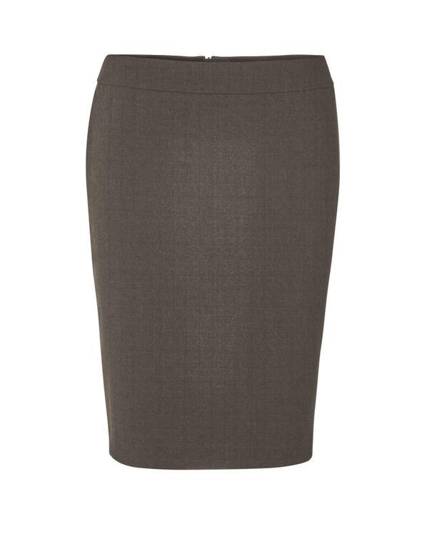 Brown Favourite Pencil Skirt, Brown, hi-res