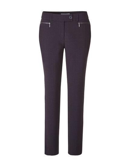 Plum Slim Leg Pant, Deep Plum, hi-res