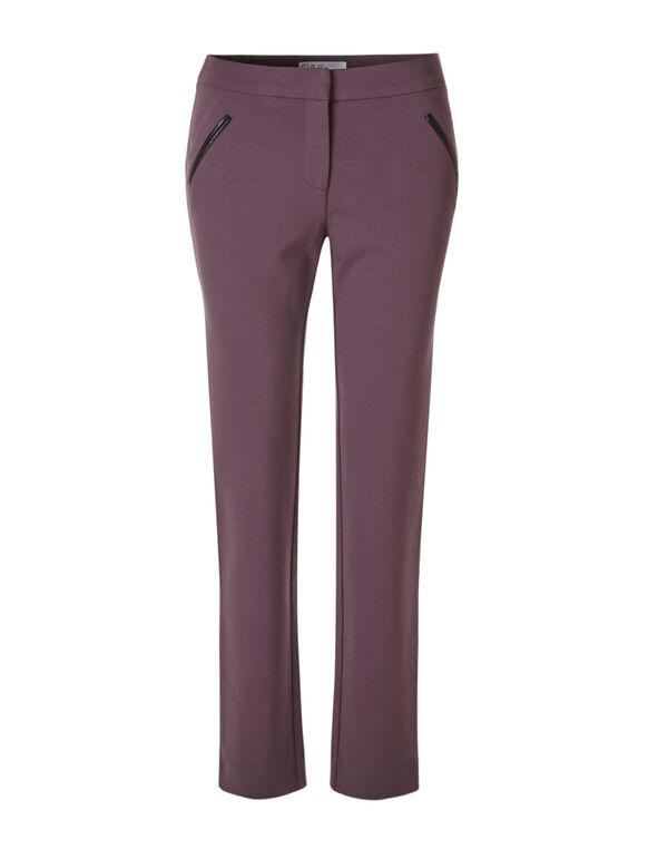 Plum Comfort Stretch Slim Pant, Plum, hi-res
