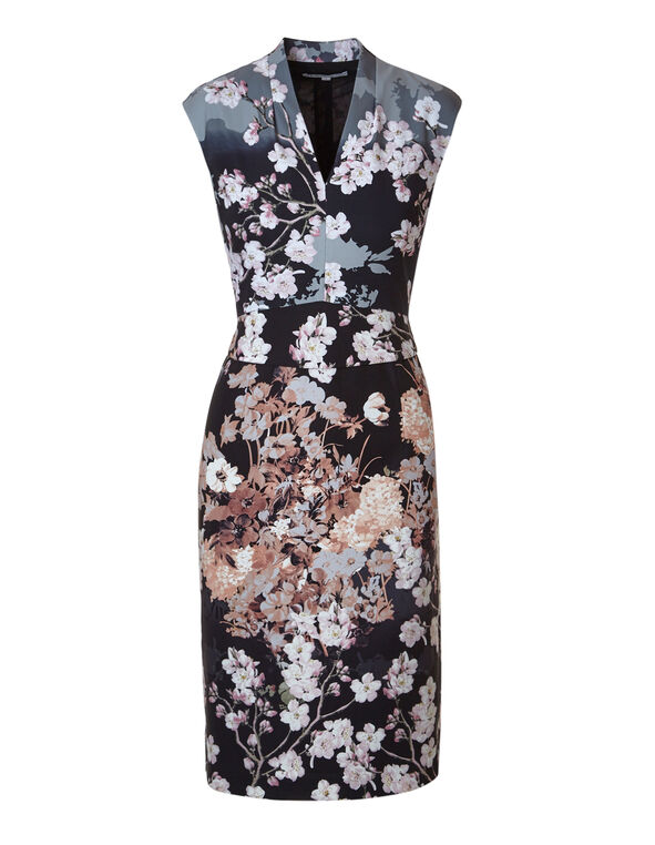 Floral Sheath Dress, Floral, hi-res