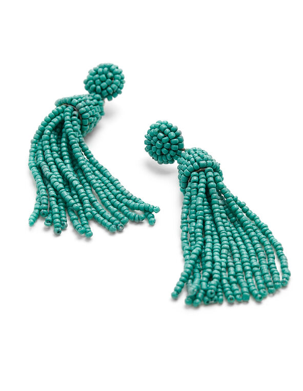 Turquoise Seed Bead Earring, Turquoise, hi-res