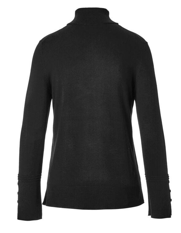 Black Turtleneck Sweater, Black, hi-res