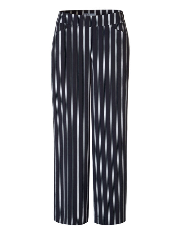 Wide Leg Soft Stripe Pant, Navy/White, hi-res