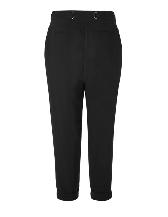 Black Paper Bag Ankle Pant, Black, hi-res