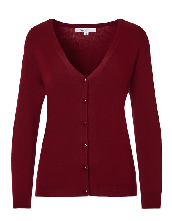 Winter Red Mid Cardigan, Winter Red, hi-res