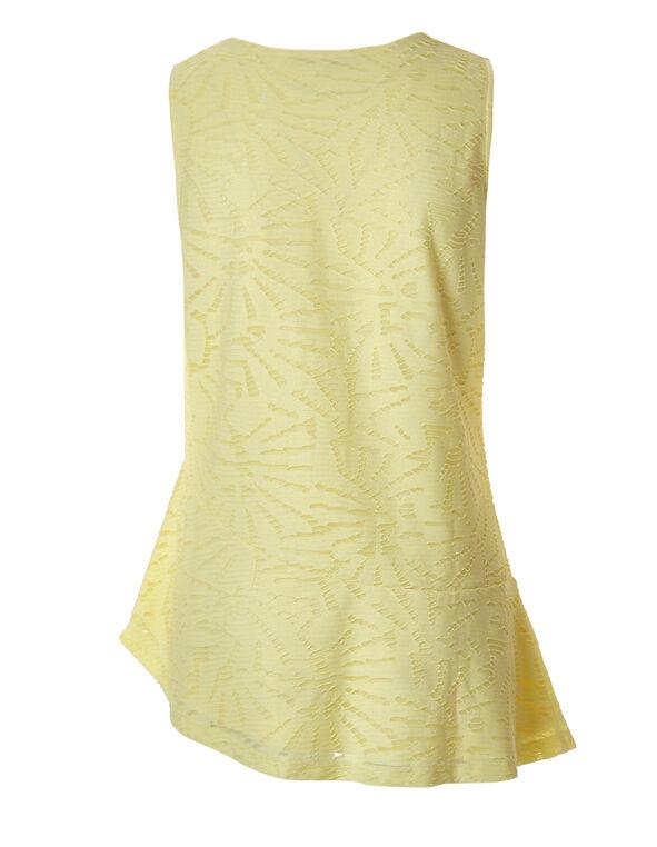 Yellow Asymmetrical Popover Top, Yellow, hi-res