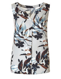 Stone Printed Hi-Low Shell Blouse