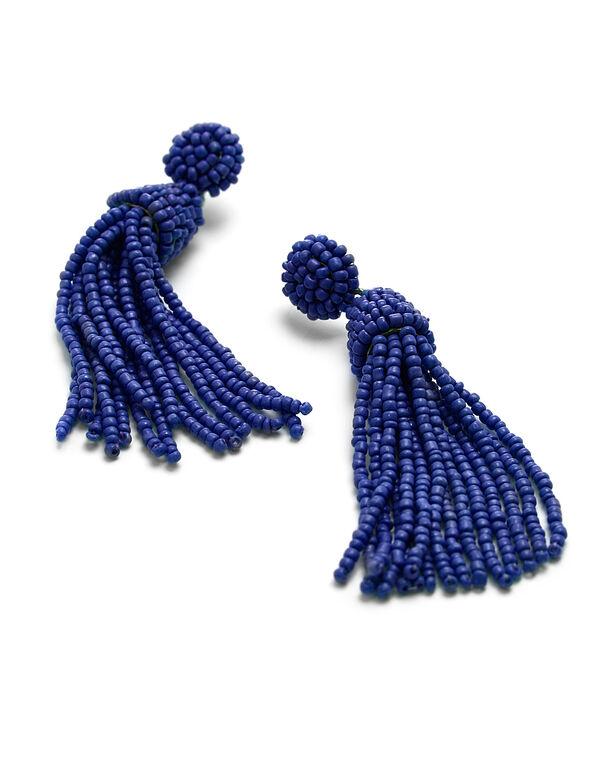 Cobalt Seed Bead Earring, Cobalt, hi-res