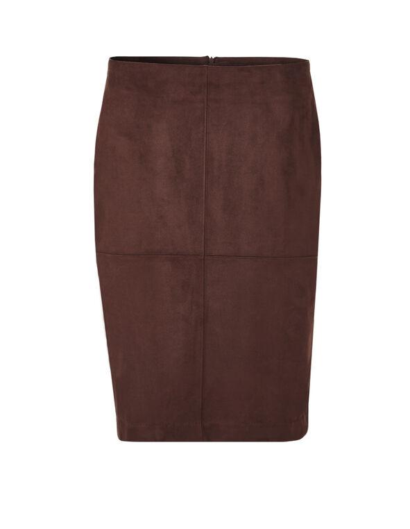 Cinnamon Suede Pencil Skirt, Cinnamon, hi-res