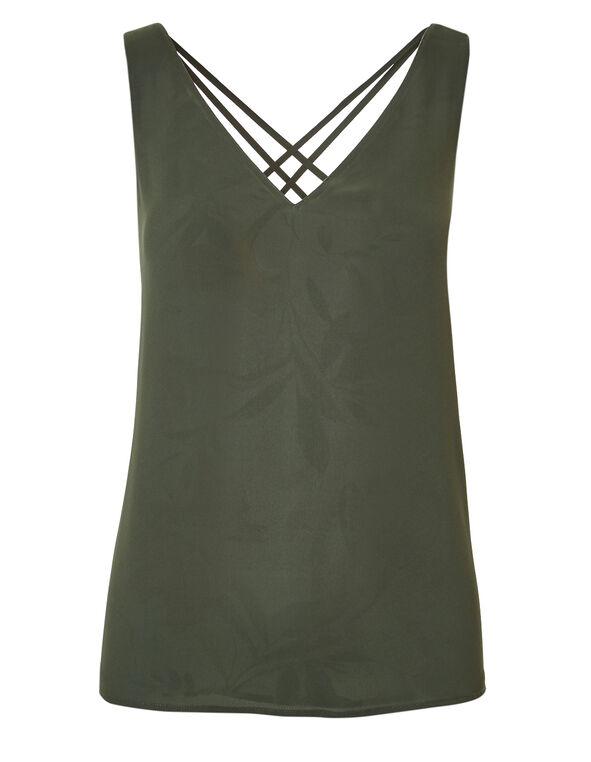 Green Patterned Reversible Blouse, Green Pattern, hi-res