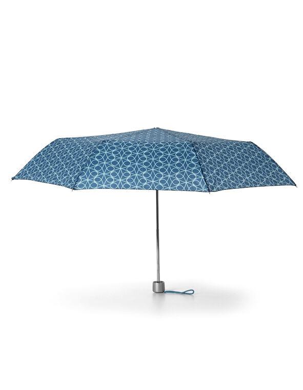 Blue Swirl Printed Umbrella, Blue/Light Blue, hi-res