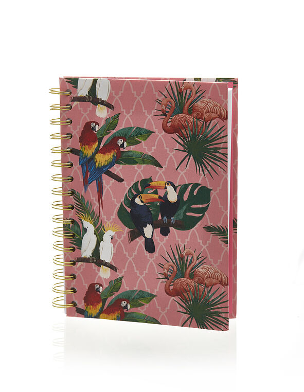 Welcome To Paradise Notebook, Pink Tropical, hi-res
