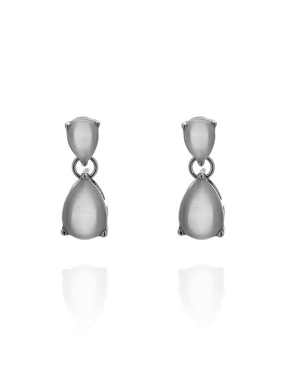 Neutral Cat Eye Teardrop Earring, Neutral, hi-res