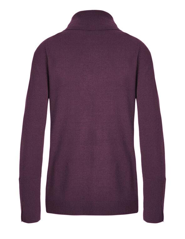 Raspberry Turtleneck Sweater, Raspberry, hi-res