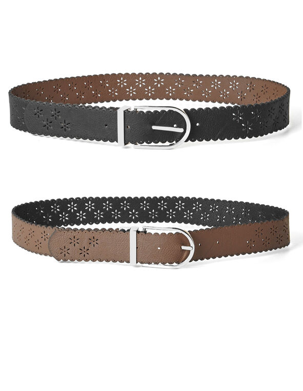 Black Jean Reversible Belt, Black, hi-res