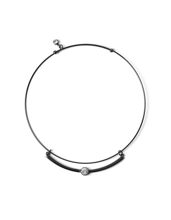 Hematite Collar Necklace, Hematite, hi-res