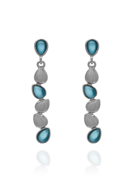 Turquoise Cat Eye Earring, Turquoise, hi-res