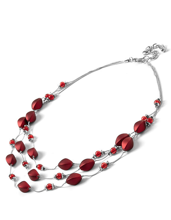 Burgundy Illusion Necklace, Burgundy, hi-res
