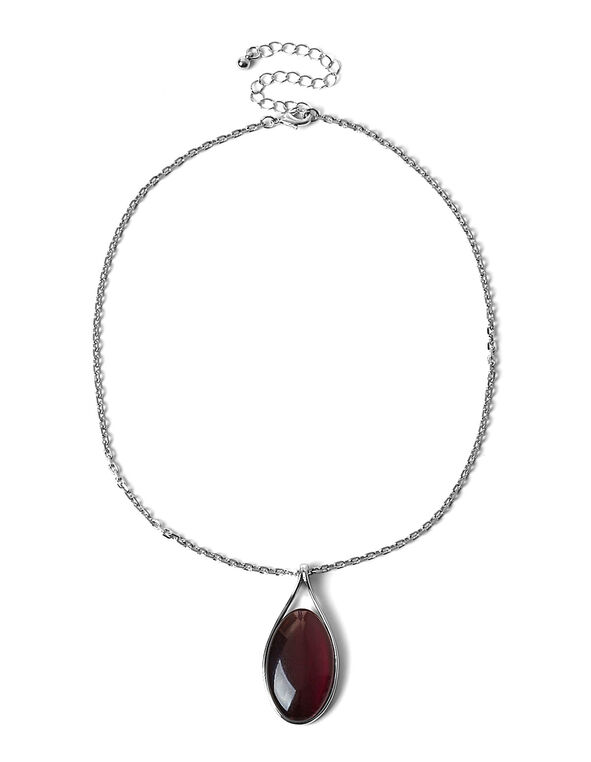 Wine Reversible Cat Eye Short Necklace, Wine, hi-res