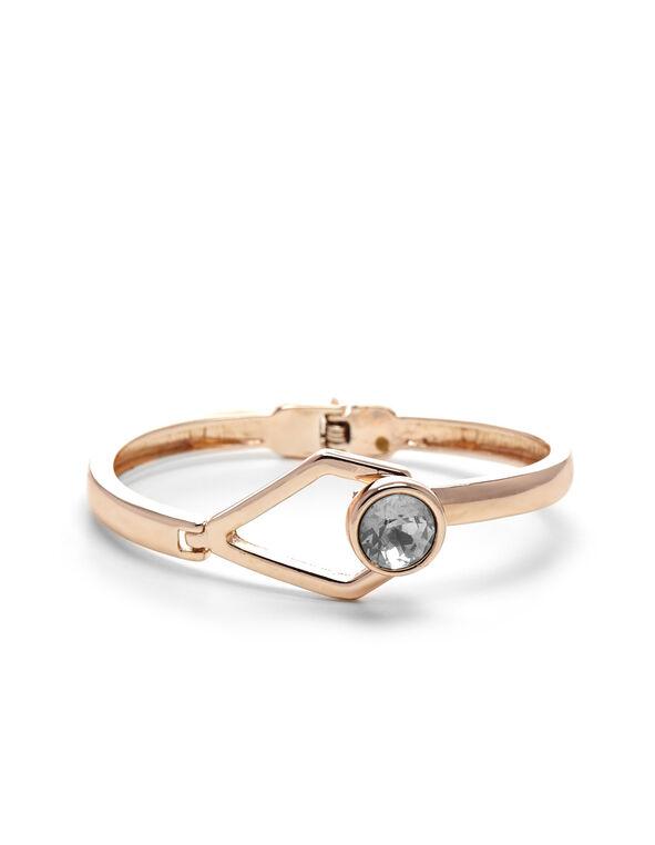 Rose Gold Hinge Bracelet, Rose Gold, hi-res
