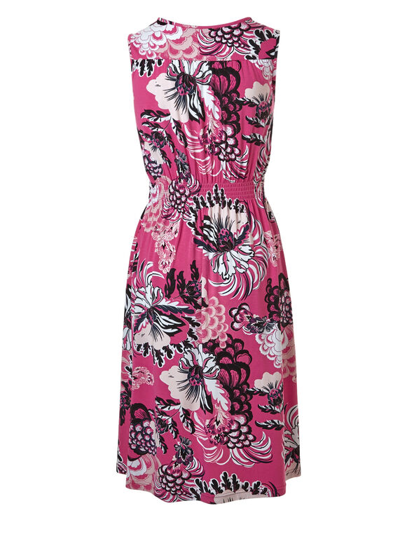 Pink Floral Summer Dress, Pink Floral, hi-res