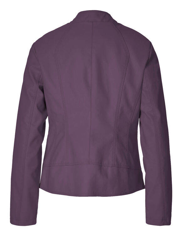 Orchid Scuba Faux Leather Jacket, Orchid, hi-res