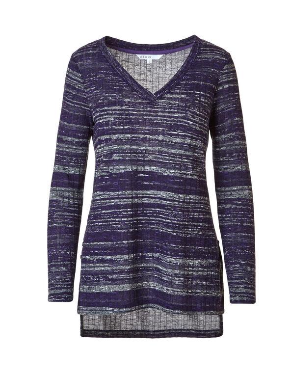 Grape Rib Knit Tunic, Grape/Laven, hi-res